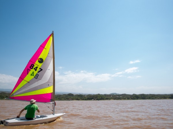 Sailing on Lake Langano