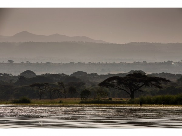View of the Rift Valley from Lake Langano